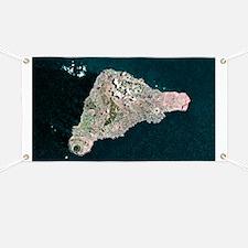Easter Island, satellite image - Banner