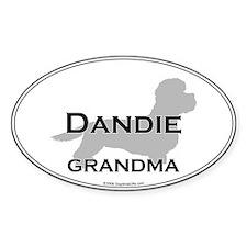 Dandie GRANDMA Oval Decal