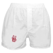 Pretty red christian cross 5 U P Boxer Shorts