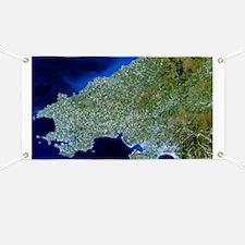 Satellite image of southwest Wales - Banner