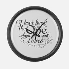 Song of Solomon Large Wall Clock