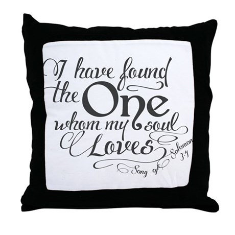 No Throw Pillows On The Bed Song : Song of Solomon Throw Pillow by Sweetsisters