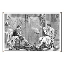 Alexander of Macedon and Aristotle - Banner
