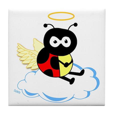 Angel Ladybug Tile Coaster