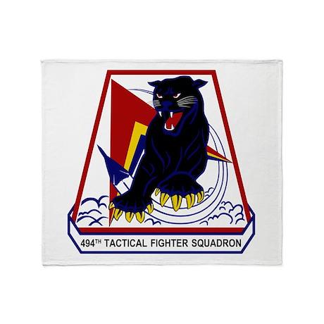 494th TFS Throw Blanket