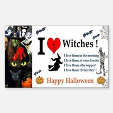 Halloween Witch Love Decal