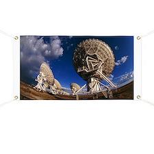 Very Large Array (VLA) radio antennae - Banner