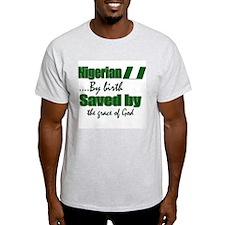 Nigerian by birth Ash Grey T-Shirt