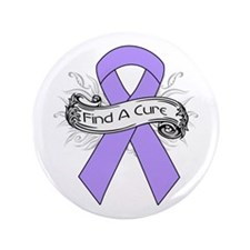 """General Cancer Find A Cure 3.5"""" Button (100 pack)"""