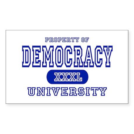 Democracy University Rectangle Sticker