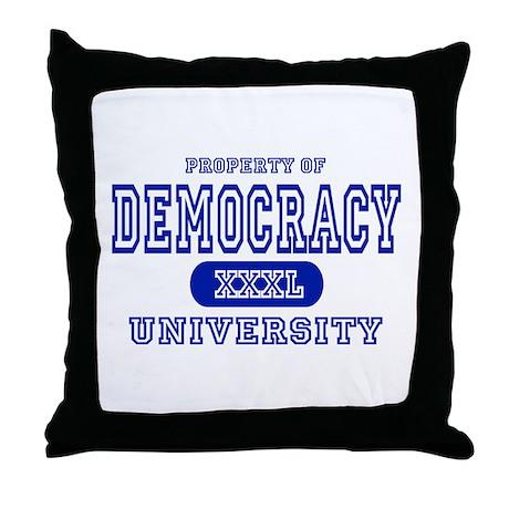 Democracy University Throw Pillow