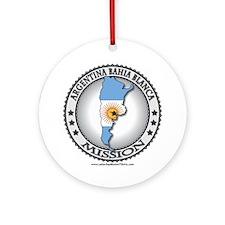 Argentina Bahia Blanca LDS Mission Flag Cutout Orn