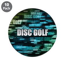 """Disc Golf 3.5"""" Button (10 pack)"""