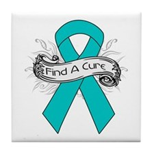 Gynecologic Cancer Find A Cure Tile Coaster
