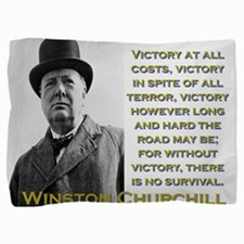 Victory At All Costs - Churchill Pillow Sham