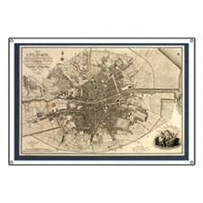 Map of the City of Dublin, 1797 - Banner