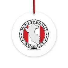 Peru Trujillo LDS Mission Flag Cutout Map 1 Orname