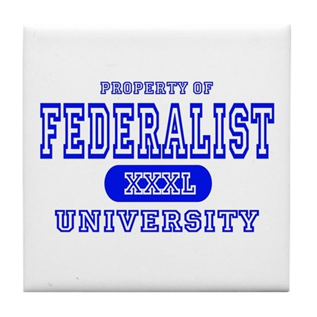 Federalist University Tile Coaster