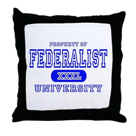 Federalist University Throw Pillow