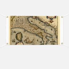 Ortelius's map of Italy, 1570 - Banner