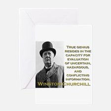 True Genius Resides - Churchill Greeting Card