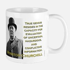 True Genius Resides - Churchill Mug