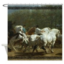 Rosa Bohneur Horse Fair Shower Curtain