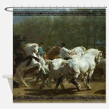 Rosa Bohneur Horse Fair Shower Curtain
