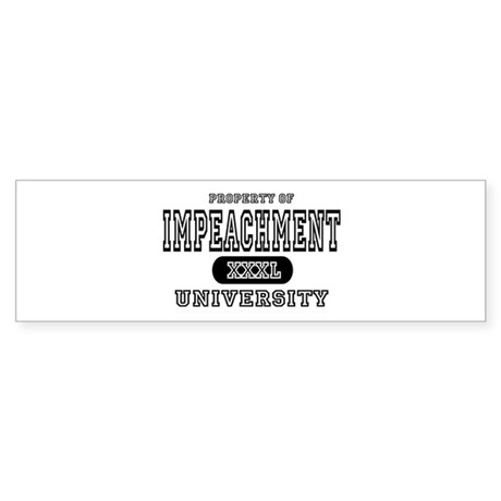 Impeachment University Bumper Sticker