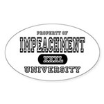 Impeachment University Oval Sticker