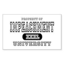 Impeachment University Rectangle Decal