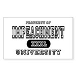 Impeachment University Rectangle Sticker