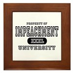 Impeachment University Framed Tile