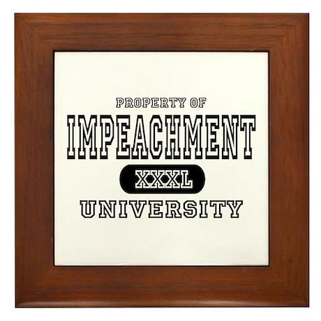 Impeachment University Framed Tile