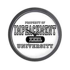 Impeachment University Wall Clock