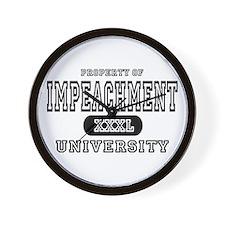 Impeachment University Wall Clock