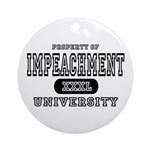 Impeachment University Ornament (Round)