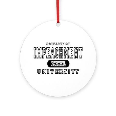 Impeachment University Ornament (Round)