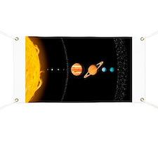 Solar system planets, artwork - Banner