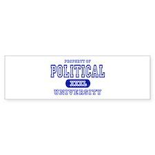 Political University Bumper Bumper Sticker