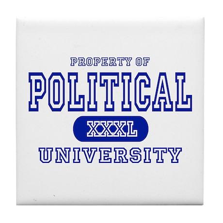 Political University Tile Coaster