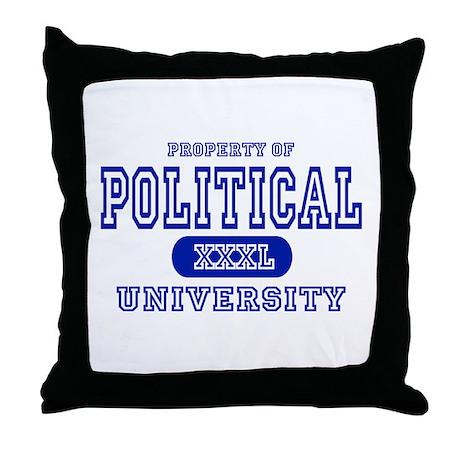 Political University Throw Pillow