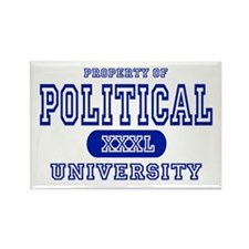 Political University Rectangle Magnet