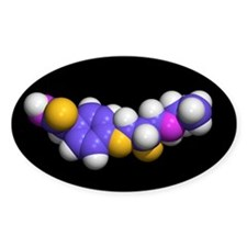 Beta-blocker drug molecule - Decal