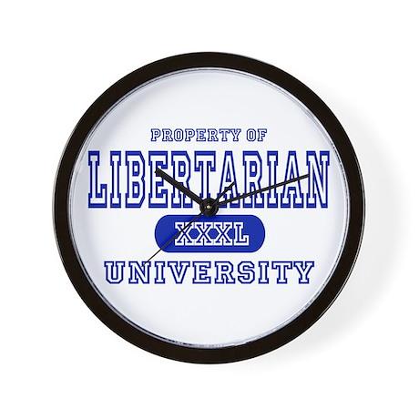 Libertarian University Wall Clock
