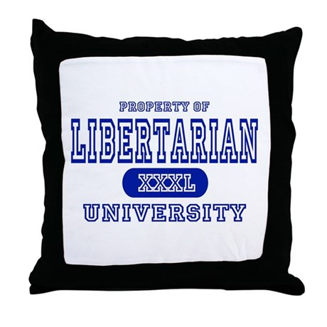 Libertarian University Throw Pillow