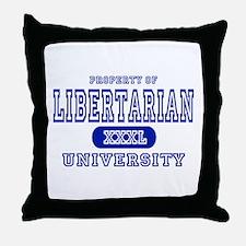 Libertarian University Throw Pillow