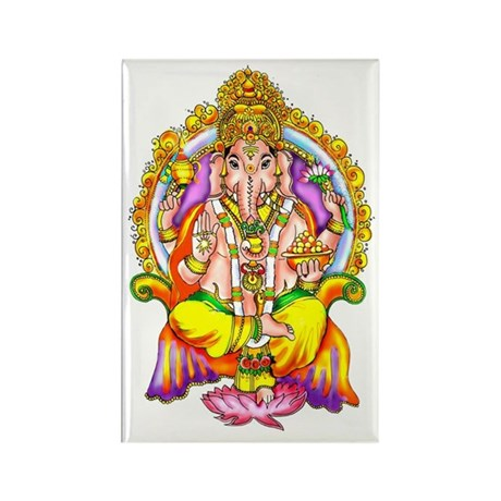 Ganesh Rectangle Magnet (100 pack)