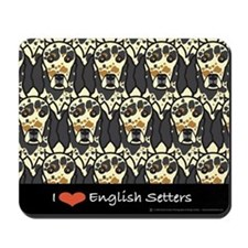 I Love Tri English Setters Mousepad