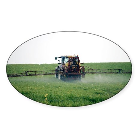 Crop spraying - Sticker (Oval 10 pk)
